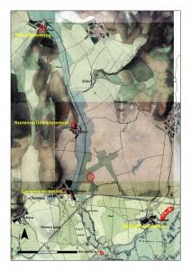 A Szerencs patak bronzkori települései a 2. katonai felmérés térképlapján