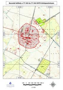 A lelőhely környezetében végzett szisztematikus terepbejárás adatai (Térkép: Bánhegyi Anna)